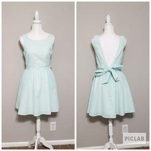 New Lauren James Emerson Mint Seersucker Dress